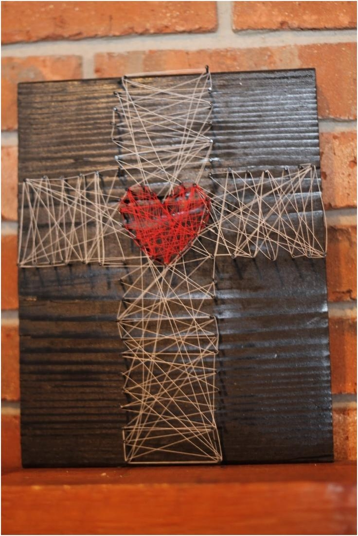 Top 10 Creative Diy String Art – Yeahmag In Nail And Yarn Wall Art (Image 16 of 20)