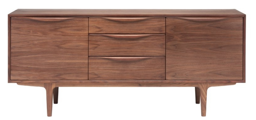 Top 8 Walnut Tv Stands For A Mid Century Modern Home – Cute Furniture For Best And Newest Walnut Tv Cabinets With Doors (Image 17 of 20)