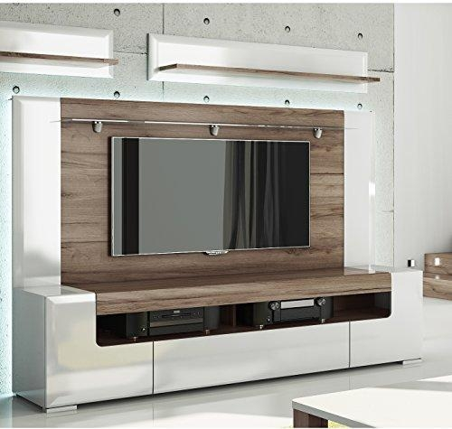 Toronto Tv Cabinet With Wall Panel – Large – Living Room Intended For Most Popular 84 Inch Tv Stand (View 10 of 20)