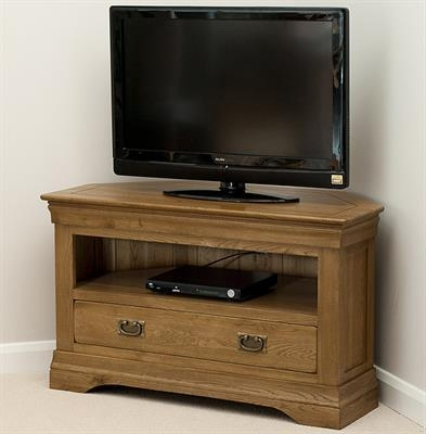 Toulouse Solid Oak Corner Tv Cabinet | Sha036 | Right Price Furniture With Most Up To Date Solid Oak Corner Tv Cabinets (Image 18 of 20)