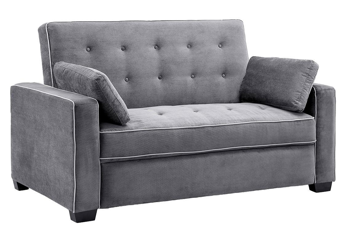 Traditional Couch Futon | Augustine Grey Sofa Sleeper | The Futon Shop Within Sofa Lounger Beds (Image 20 of 20)