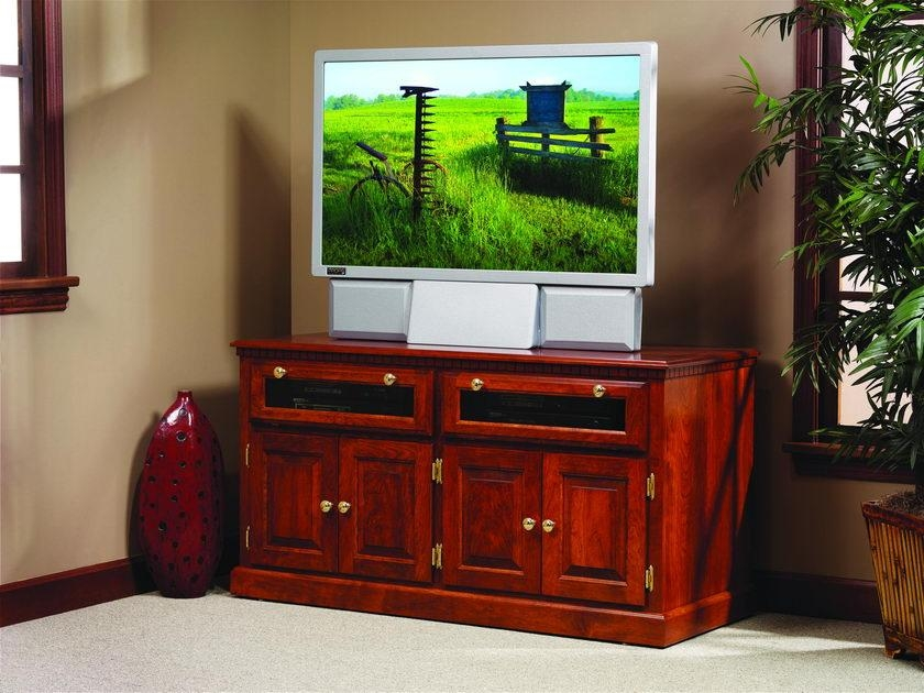 Traditional Hdtv Square Tv Stand With Raised Panel Doors Pertaining To 2017 Square Tv Stands (Image 15 of 20)