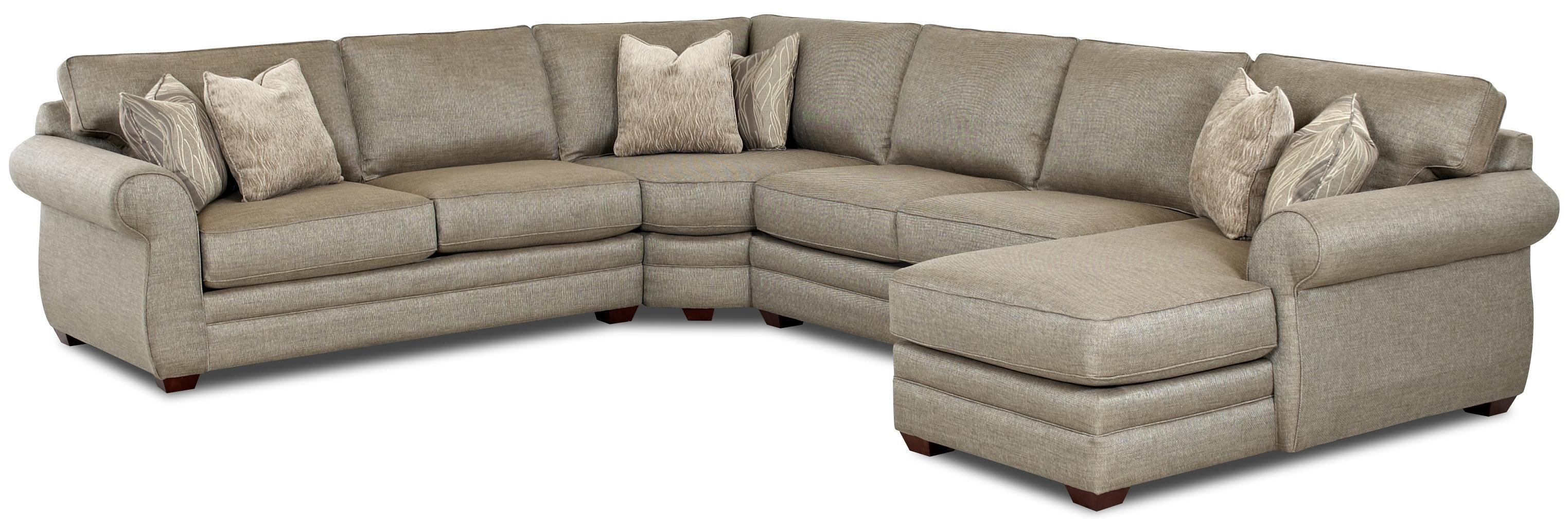 Transitional Sectional Sofa With Right Chaise And Full Sleeper Regarding Sectional Sofas With Sleeper And Chaise (Image 19 of 21)