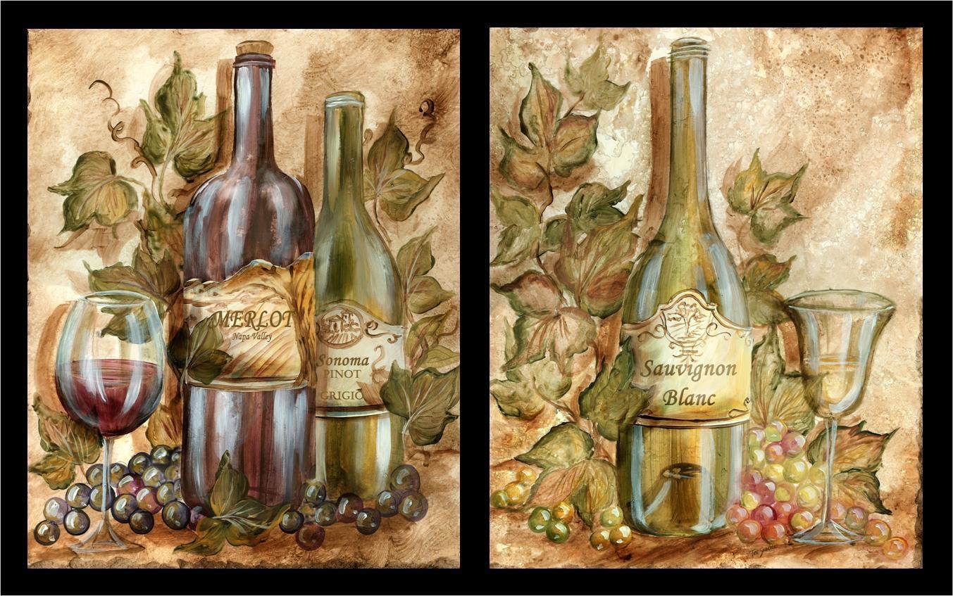 Tre Sorelle's Art Licensing Program Inside Wine And Grape Wall Art (Image 14 of 20)