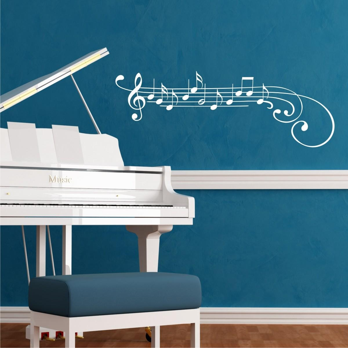 Treble Clef And Notes Wall Quotes™ Wall Art Decal | Wallquotes For Music Notes Wall Art Decals (Image 14 of 20)