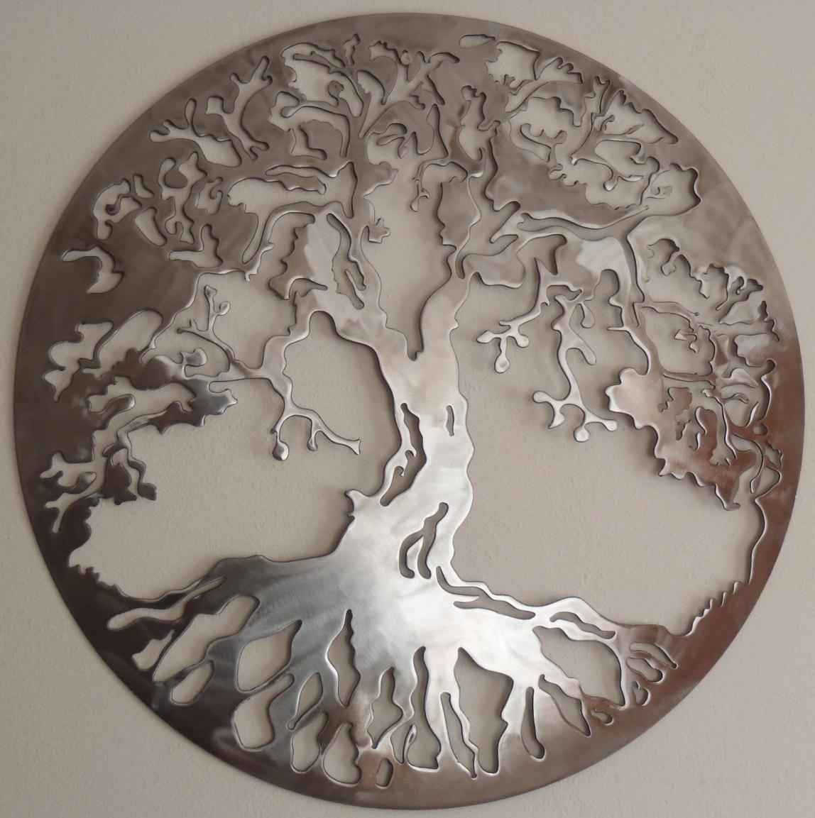 Tree Of Life Metal Art Wall Decor Within Metal Art For Walls (View 7 of 20)