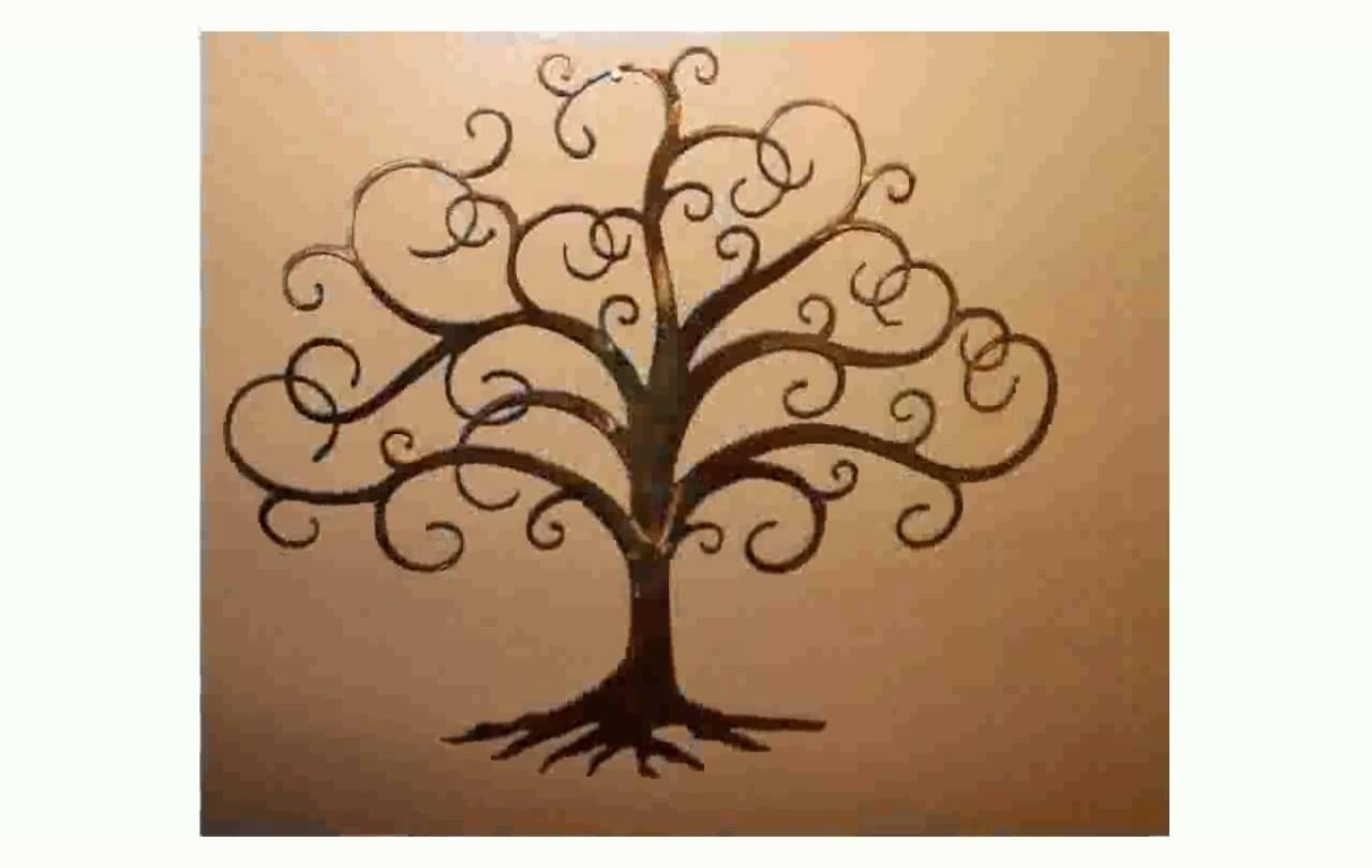 Tree Of Life Metal Wall Art – Youtube Pertaining To Iron Tree Wall Art (View 20 of 20)