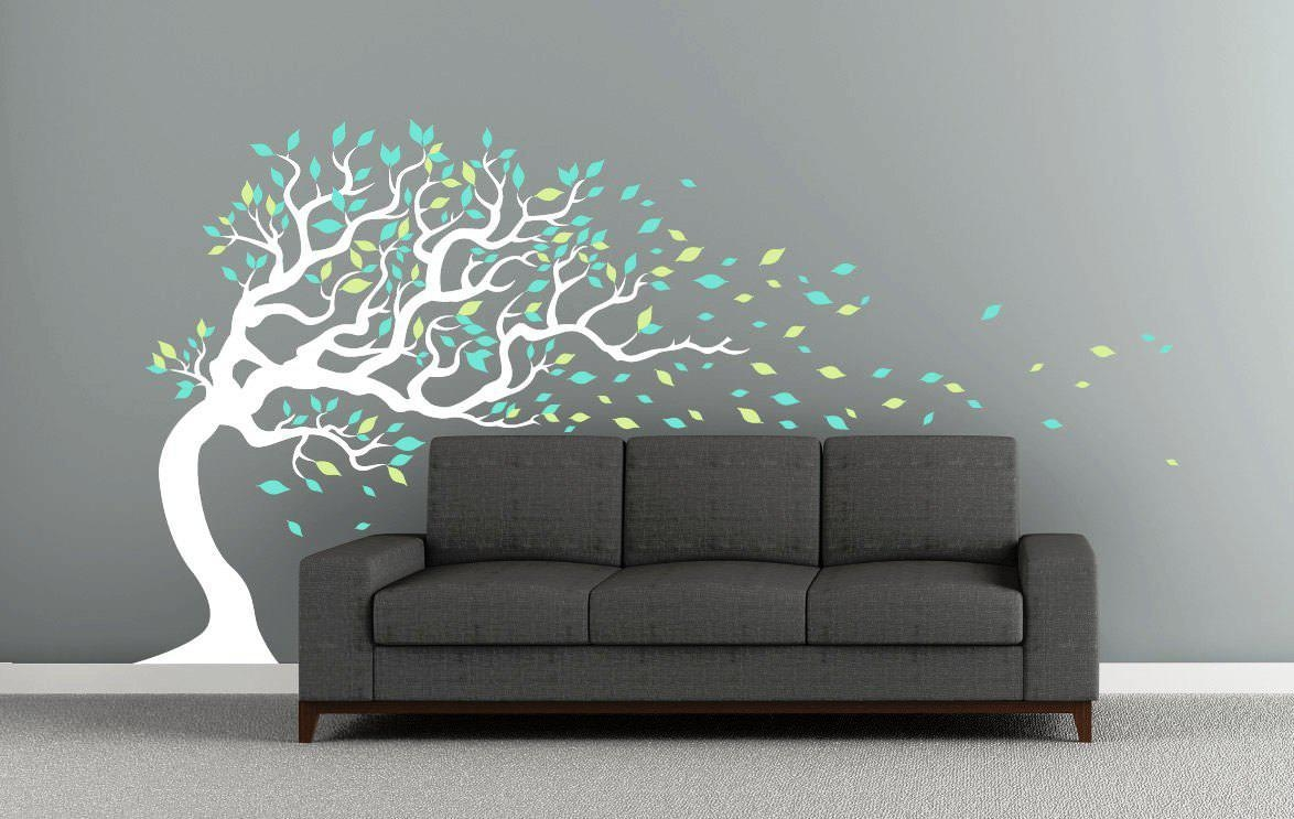 Tree Wall Decal For Interior Decoration — Wedgelog Design Within Tree Of Life Wall Art Stickers (Image 13 of 20)