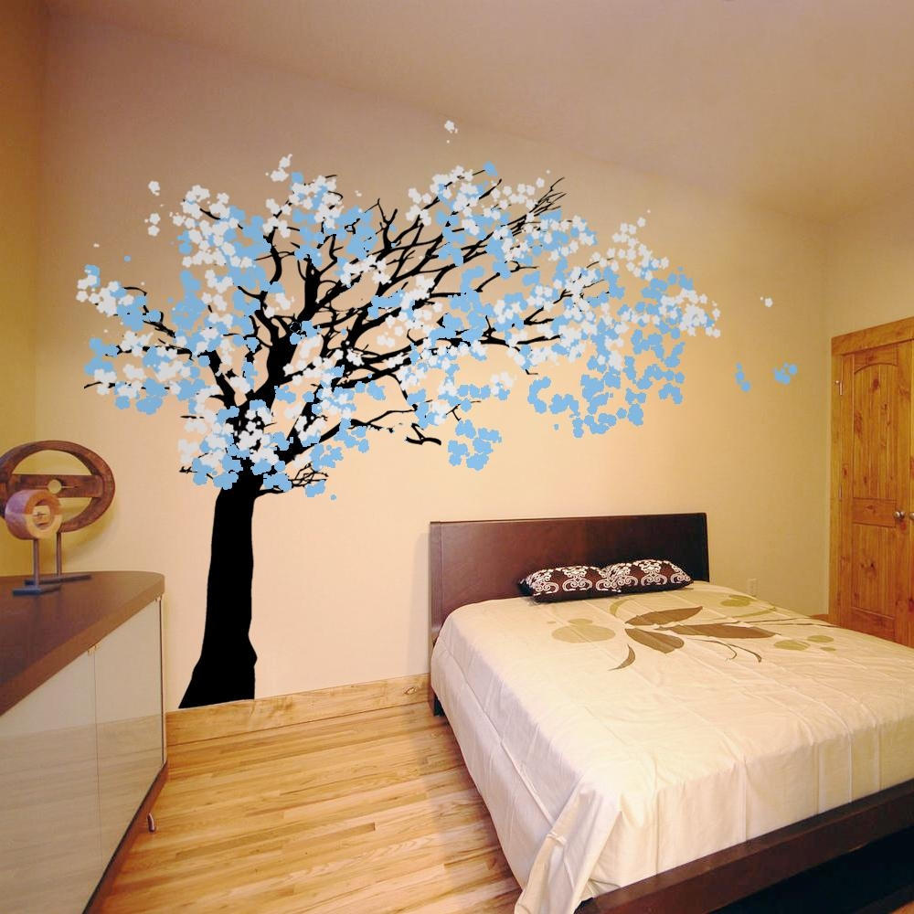 Tree Wall Decals Wall Stickers In Cherry Blossom Vinyl Wall Art (View 6 of 20)