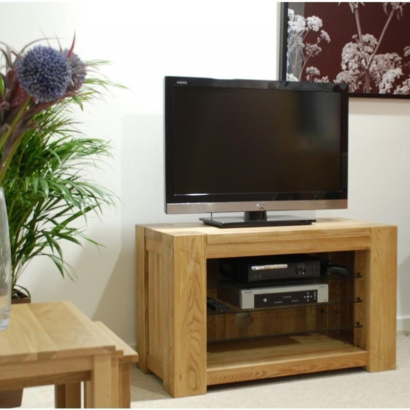 Trend Solid Oak Small Open Tv Plasma Unit | Furniture4Yourhome Within Most Up To Date Small Oak Tv Cabinets (Image 17 of 20)