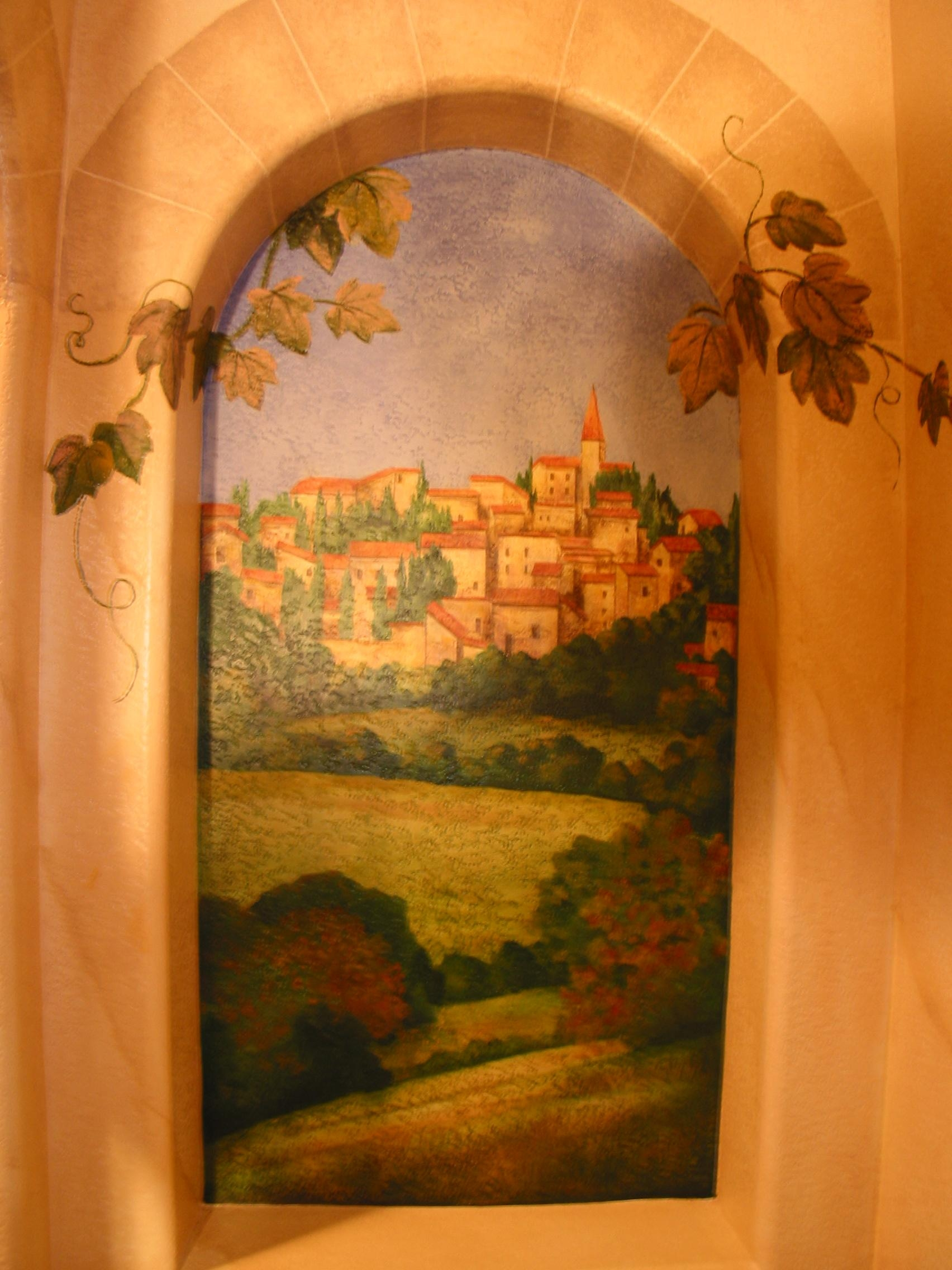 Trompe L'œil Mural ~ Italian Renaissance Style | Ruthie Lowen With Regard To Italian Art Wall Murals (View 10 of 20)