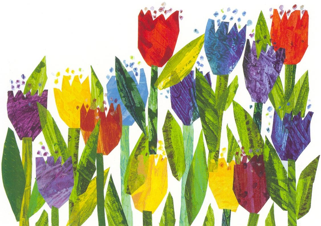 Tulips Postcard | The Eric Carle Museum Of Picture Book Art Intended For Eric Carle Wall Art (Image 17 of 20)