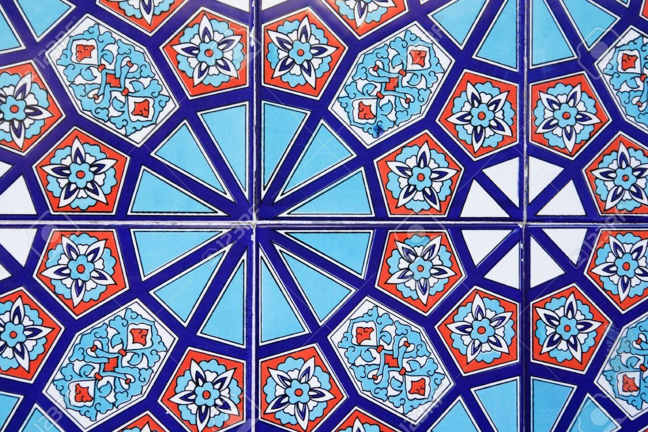 Turkish Wall Tile Background Stock Photo, Picture And Royalty Free Intended For Turkish Wall Art (View 15 of 20)