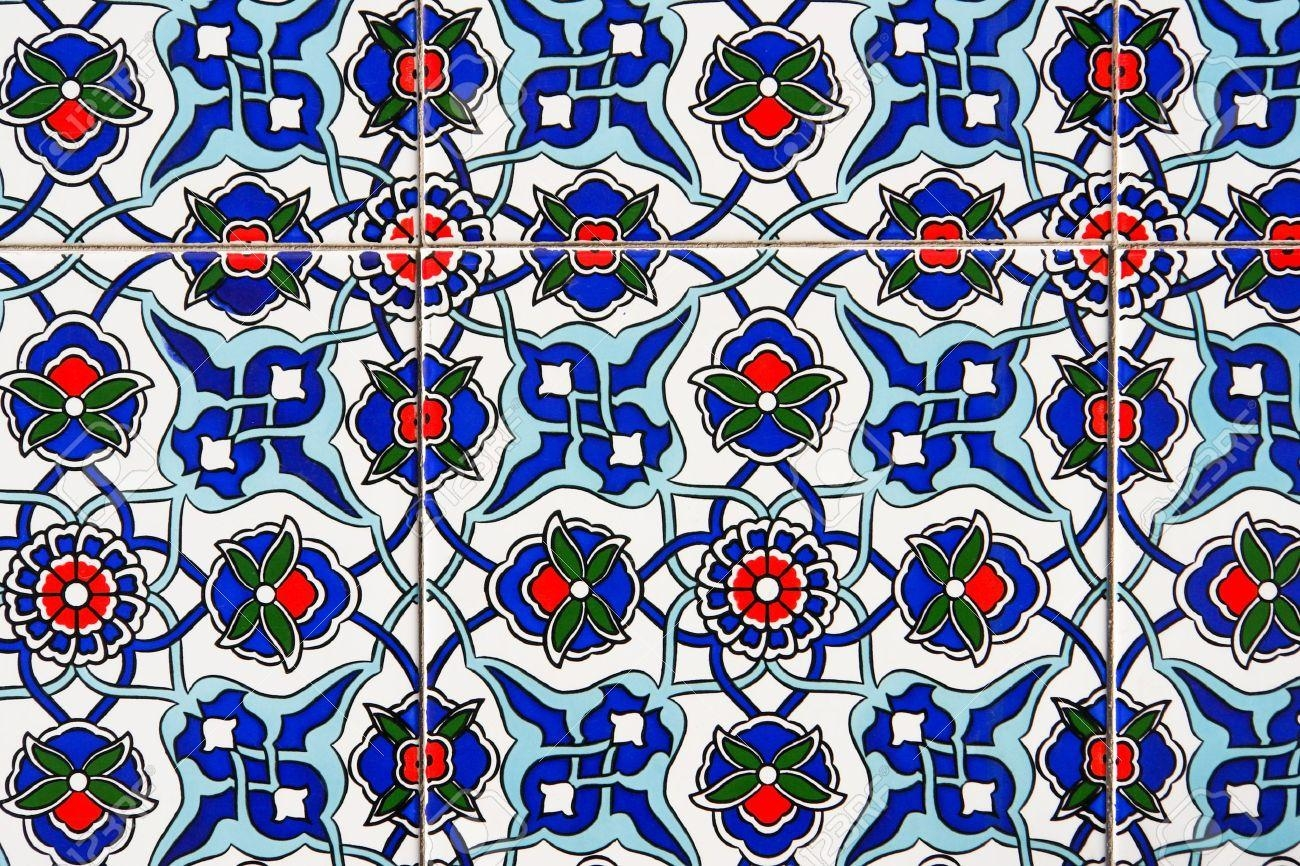 Turkish Wall Tile Background Stock Photo, Picture And Royalty Free Pertaining To Turkish Wall Art (View 3 of 20)