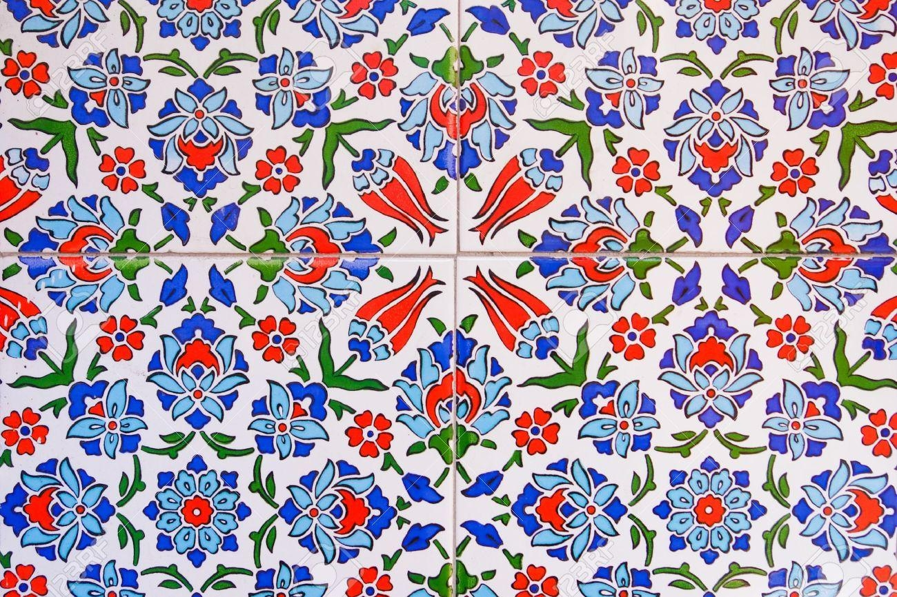Turkish Wall Tile Pattern Stock Photo, Picture And Royalty Free For Turkish Wall Art (View 20 of 20)