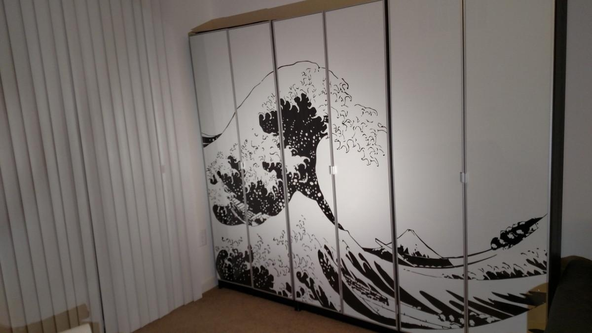 Turn Billy Bookcases Into Bold, Large Wall Art – Ikea Hackers For Ikea Wall Art Canvas (Image 18 of 20)