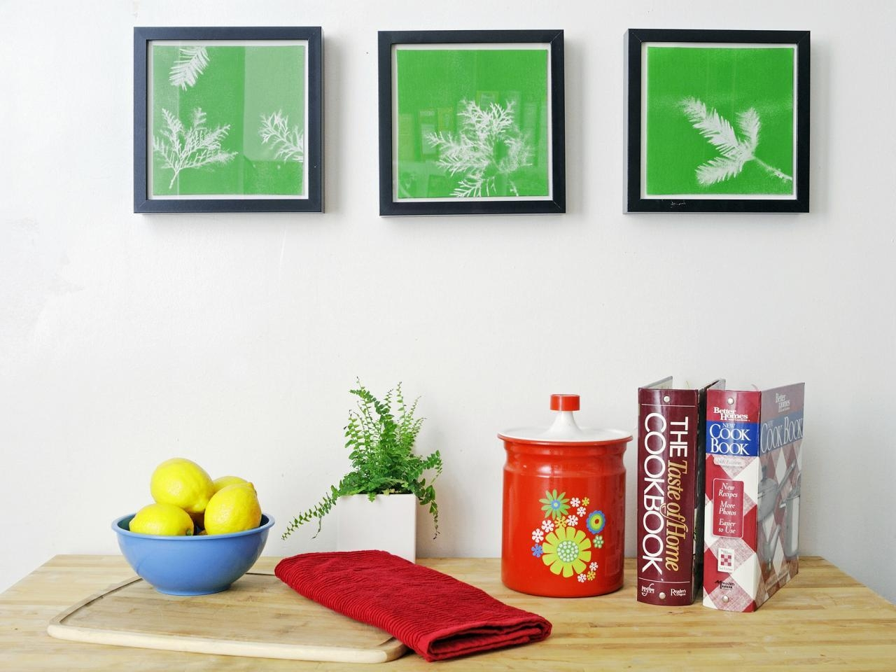 Turn Leaves And Foliage Into Diy Canvas Wall Art | Hgtv Intended For Turn Pictures Into Wall Art (Image 14 of 20)
