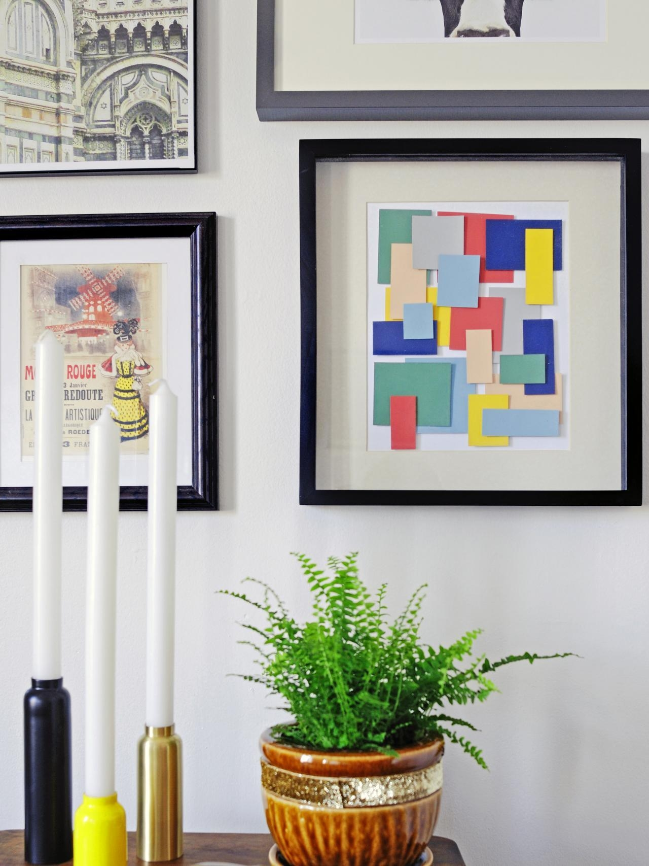 Turn Paint Chips Into Geometric Diy Wall Art | Hgtv In Turn Pictures Into Wall Art (View 6 of 20)