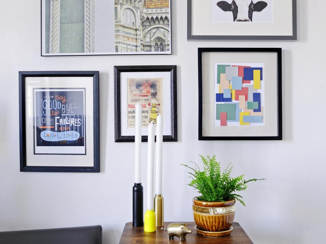 Turn Paint Chips Into Geometric Diy Wall Art | Hgtv Intended For Turn Pictures Into Wall Art (View 7 of 20)