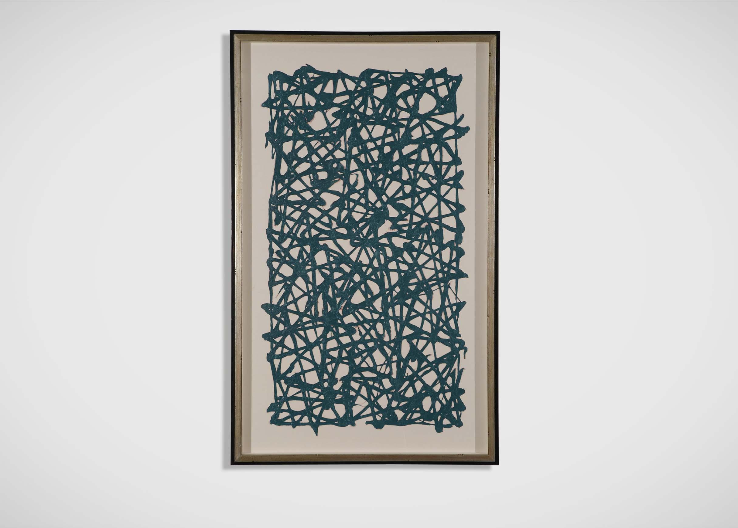 Turquoise Paper Art | Abstract In Ethan Allen Wall Art (Image 10 of 20)