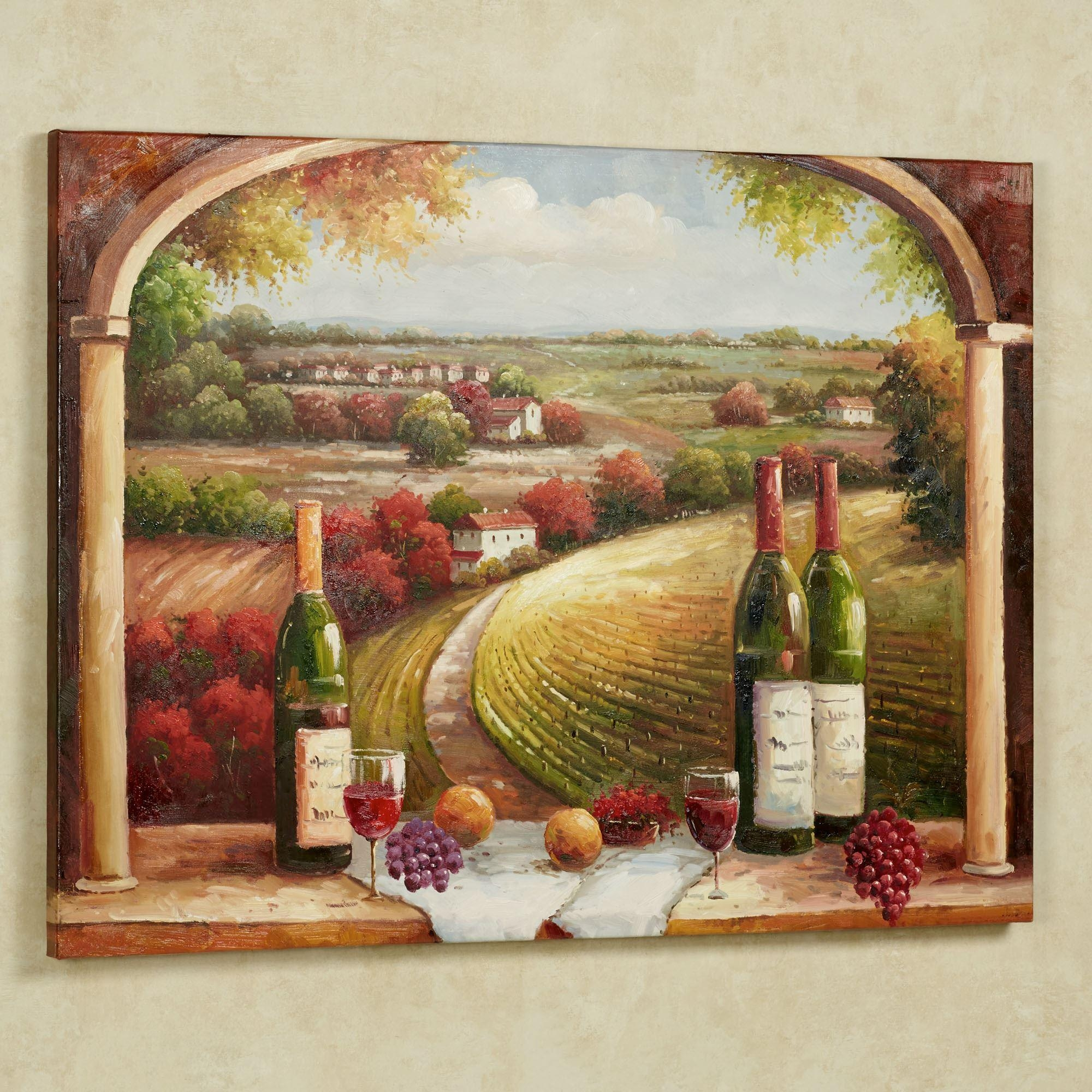 Tuscan Charm Canvas Wall Art Throughout Grape Vineyard Wall Art (View 15 of 20)