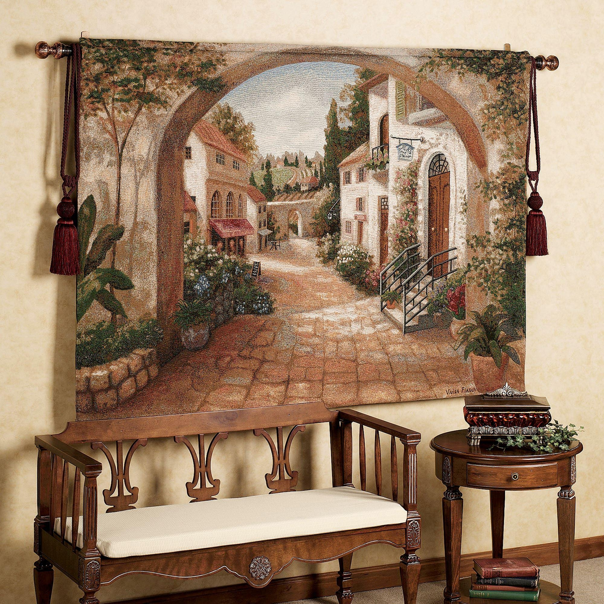 Tuscan Italian Style Home Decorating And Tuscan Decorating Tips Pertaining To Italian Plates Wall Art (Image 16 of 20)
