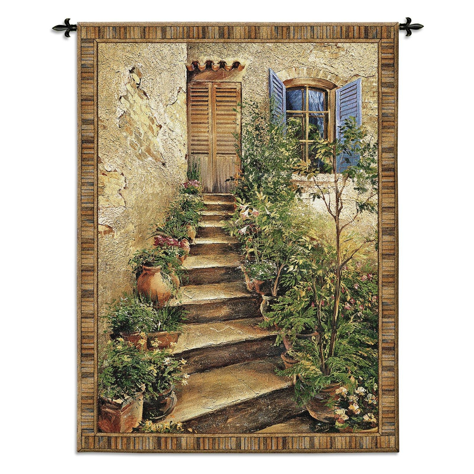 Tuscan Villa Ii Wall Tapestry | Hayneedle Pertaining To Italian Wall Art For Sale (View 19 of 20)