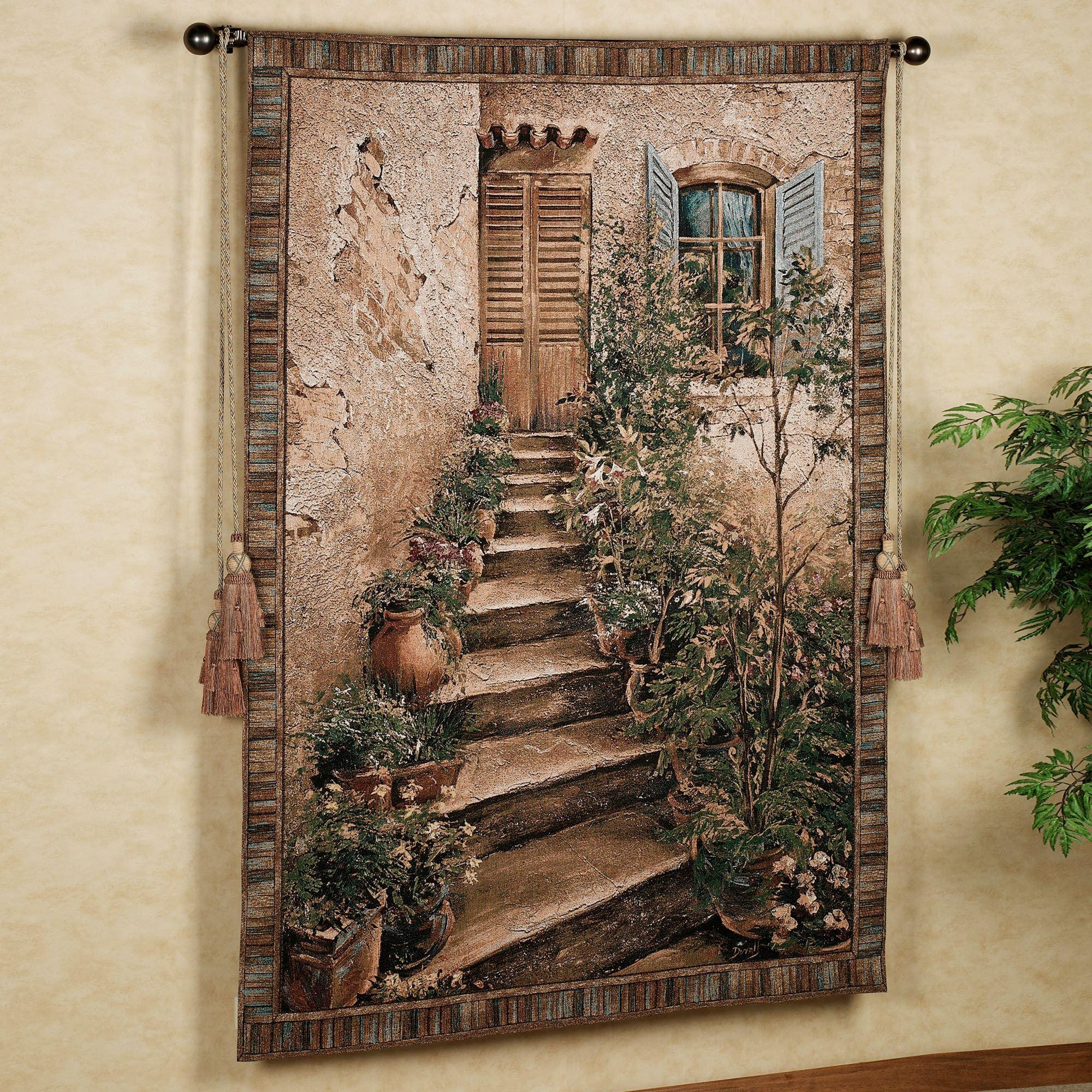 Tuscan Villa Ii Wall Tapestry Inside Italian Style Metal Wall Art (View 7 of 20)
