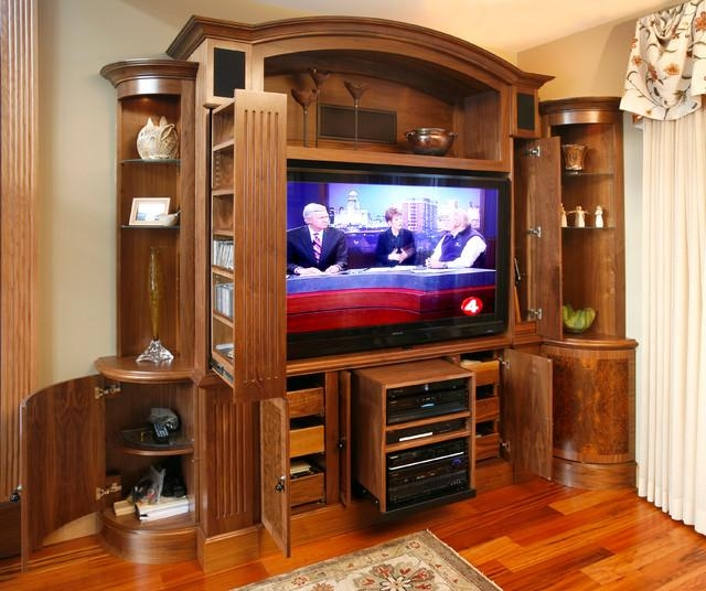 Tv And Media Wall Unit – Traditional – Living Room – New York – Throughout Current Traditional Tv Cabinets (Image 15 of 20)