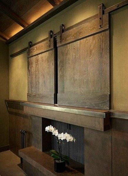 Tv Barn Doors Throughout Current Wall Mounted Tv Cabinets For Flat Screens With Doors (Image 9 of 20)