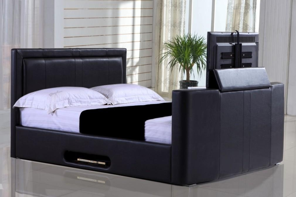 Tv Bed – Double Black Inside Recent 32 Inch Tv Bed (Image 17 of 20)