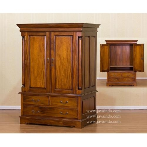 Tv Cabinet With Door | Mahogany Furniture Pertaining To Most Recently Released Mahogany Tv Cabinets (Image 19 of 20)