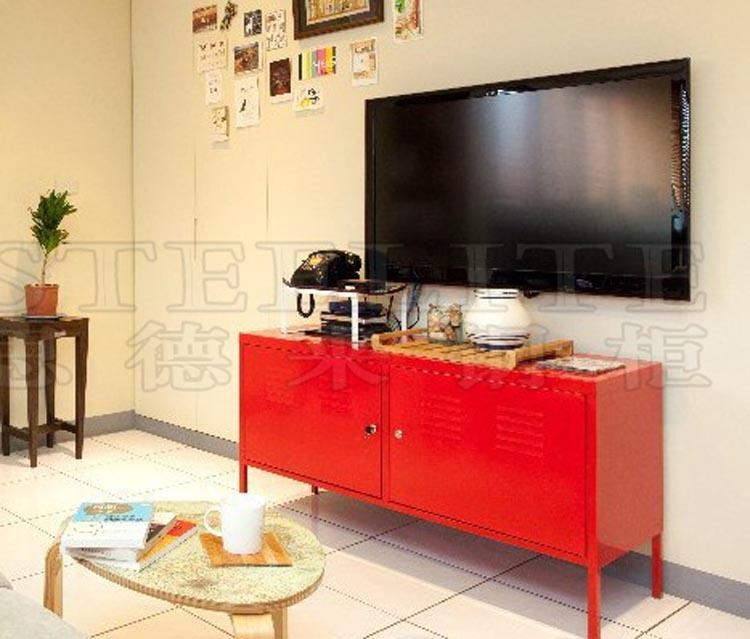 Tv Cabinet With Showcase, Tv Cabinet With Showcase Suppliers And Inside Newest Red Modern Tv Stands (Image 18 of 20)