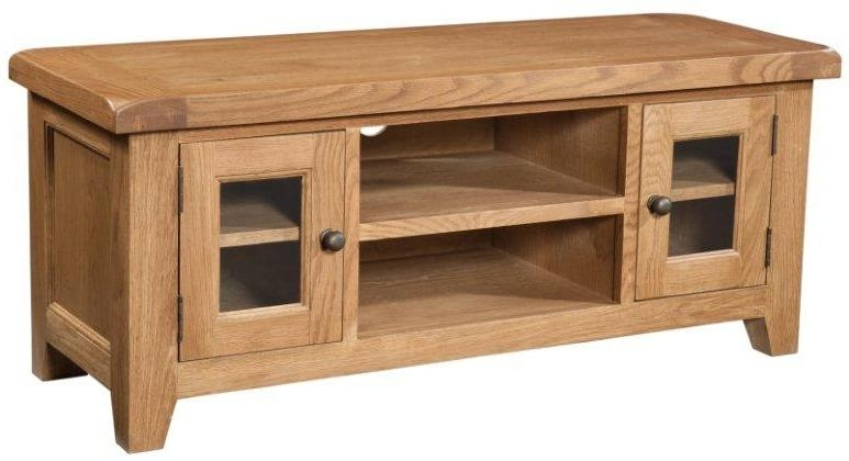 Tv Cabinets : Somerset Large Chunky Oak Tv Unitsomerset Large throughout Recent Chunky Oak Tv Unit
