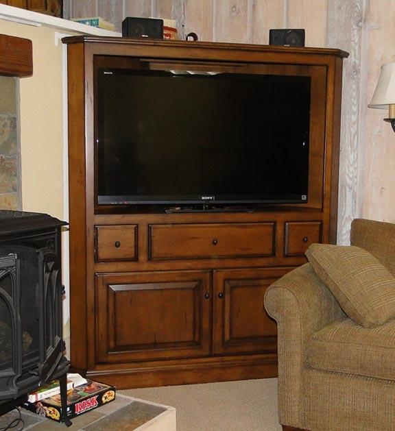 Tv Cabinets — Sun Valley Wood Works Within Current Corner Tv Cabinets For Flat Screen (View 8 of 20)