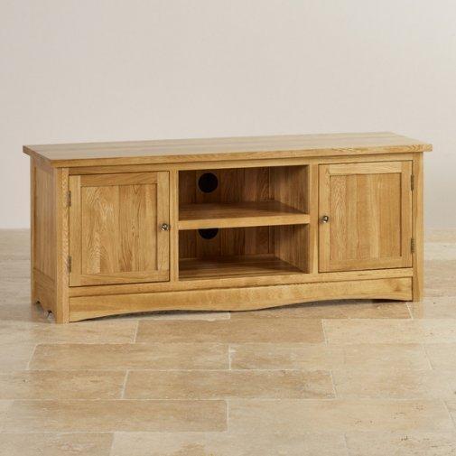 Tv Cabinets & Units | 100% Solid Oak | Oak Furniture Land Regarding Most Current Solid Oak Tv Cabinets (Image 19 of 20)
