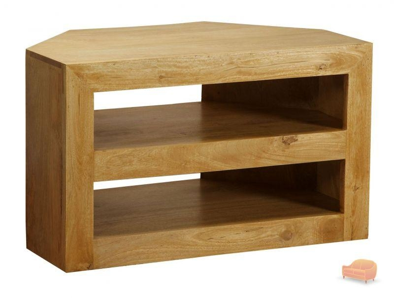 Tv Cabinets, Units Pertaining To Recent Chunky Oak Tv Unit (View 3 of 20)