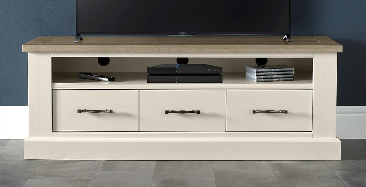 Tv & Hi Fi Units | Michael O'connor Furniture | Michael O'connor In Most Popular White Painted Tv Cabinets (View 10 of 20)