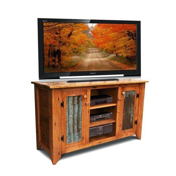 Tv Stand : 103 Innovative Rustic Brown Varnished Oak Wood Corner Within Latest Wood Corner Tv Cabinets (Image 20 of 20)