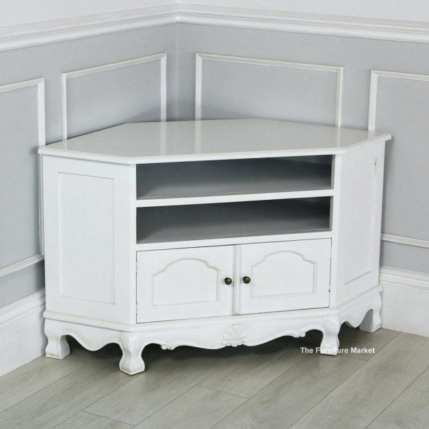 Tv Stand : 103 Ukcf Milan White Gloss Corner Tv Stand With White With Best And Newest White Gloss Corner Tv Stand (Image 14 of 20)