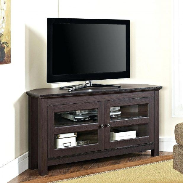 Tv Stand : 122 Stupendous Oak Corner Tv Stand With Fireplace With Current Corner Oak Tv Stands (Image 16 of 20)