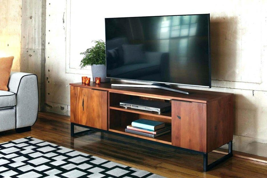 Tv Stand : 25 Chic Vertica Oak Low Contemporary Tv Stand Back With 2017 Honey Oak Tv Stands (Image 11 of 20)