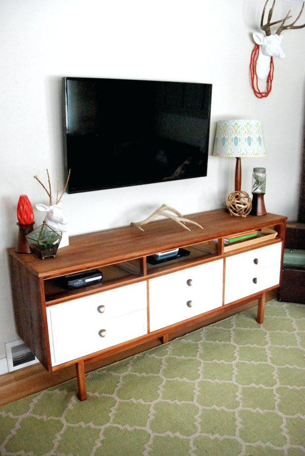 Tv Stand : 36 Impressive Mid Century Dresser Turned Tv Console Within Best And Newest Dresser And Tv Stands Combination (Image 17 of 20)
