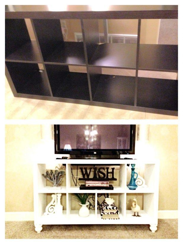 Tv Stand : 40 Diy Ikea Bookshelf To Tv Stand Innovative Diy Ikea Inside Current Tv Stands And Bookshelf (View 8 of 20)