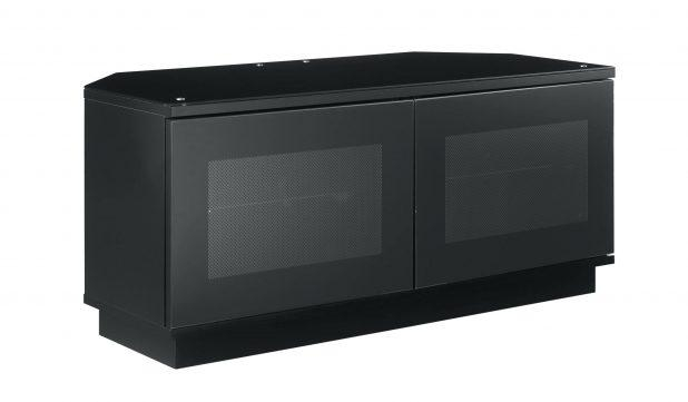 Tv Stand : 43 Corner Tv Stand Idea Which Is Made Of Black Finished In Most Current Small Black Tv Cabinets (Image 19 of 20)
