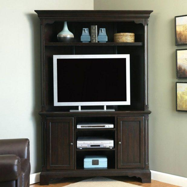 Tv Stand : 59 Amish Corner Tv Stand Splendid Amish Corner Tv Stand In Current Dark Brown Corner Tv Stands (View 13 of 20)