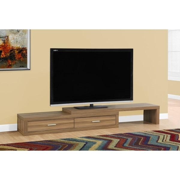Tv Stand 60 98 Inches Expandable/walnut – Free Shipping Today In Current Walnut Tv Stands (View 13 of 20)