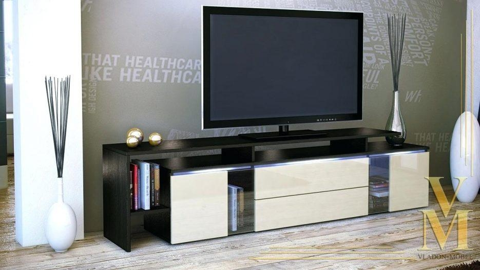 Tv Stand : 71 Contemporary Tv Stands Appealing Wondrous Wenge Tv Regarding Most Popular Wenge Tv Cabinets (Image 14 of 20)