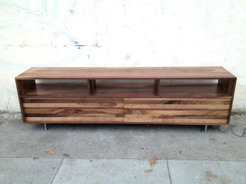 Tv Stand : 96 Bright Solid Oak Low Tv Stand Wonderful Low Wood Tv Throughout Most Up To Date Long Low Tv Cabinets (View 8 of 20)