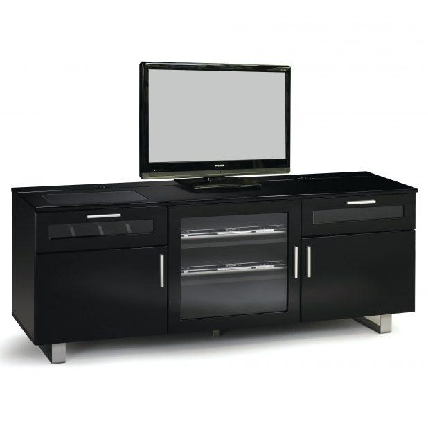 Tv Stand: Amazing Gloss Black Tv Stand Pictures (Image 18 of 20)